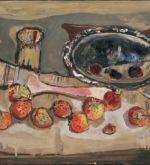 Still life with Brush and Strawberries 1960s (Schlenker 231)