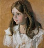 Carl Theodor von Blaas (1886-1960)  Portrait of Marie-Louise as a Girl, 1911