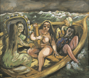 "Marie-Louise Motesiczky. The Travelers. 1940. Oil on canvas. Signed and dated, lower right. 26 ¼"" x 30"" (66.7 x 75.3 cm). Schlenker 50."